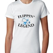 Water Bottle Flipping Legend - Awesome Graphic Women's Cotton T-Shirt