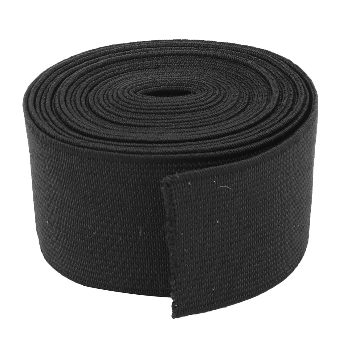 Polyester DIY Sewing Handcraft Clothes Cuff Elastic Band Black 2.73 Yards