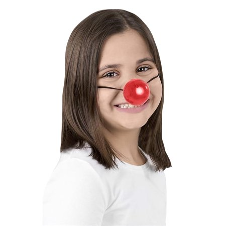 Holiday Reindeer Nose Light Up Blinking Clown Prop Costume Accessory Christmas