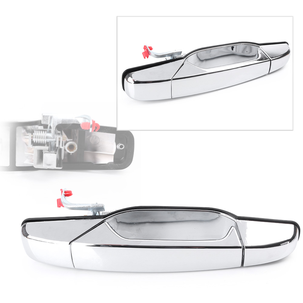 GZYF Front Outer Door Handle, Chrome Front Right Exterior