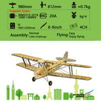 Dancing Wings Hobby S1901 Balsa Wood RC Airplane Tiger Moth Remote Control Biplane Unassembled KIT Version DIY Flying Model