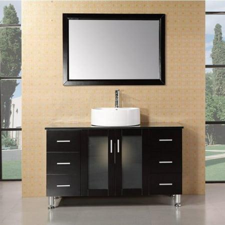 Design Element DEC066C-E Malibu 48-in. Single Bathroom Vanity Set