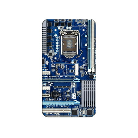 Blue Computer Motherboard - Processor CPU Memory Lapel Hat Pin Tie