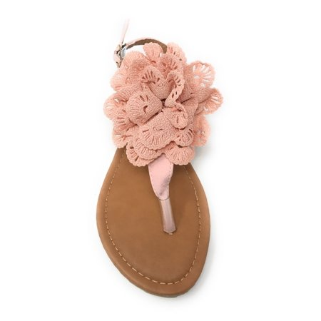 Victoria K Knitted Floral Sandals (Women)