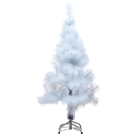 New 369463  Hx Tree 4Ft 95Tips Pine White W / White Iron Stand (1-Pack) Christmas Cheap Wholesale Discount Bulk Seasonal Christmas - Cheap Christmas Shop