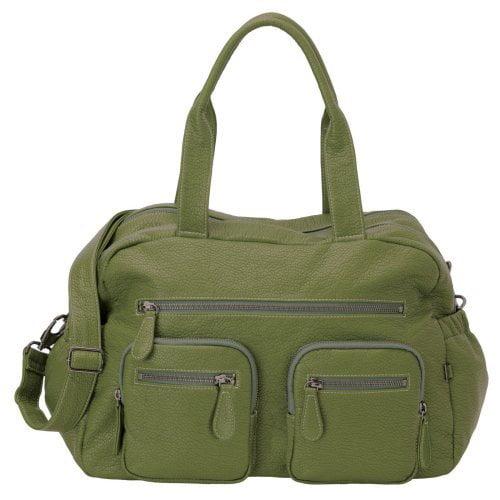 OiOi Faux Buffalo Carry All Diaper Bag - Green