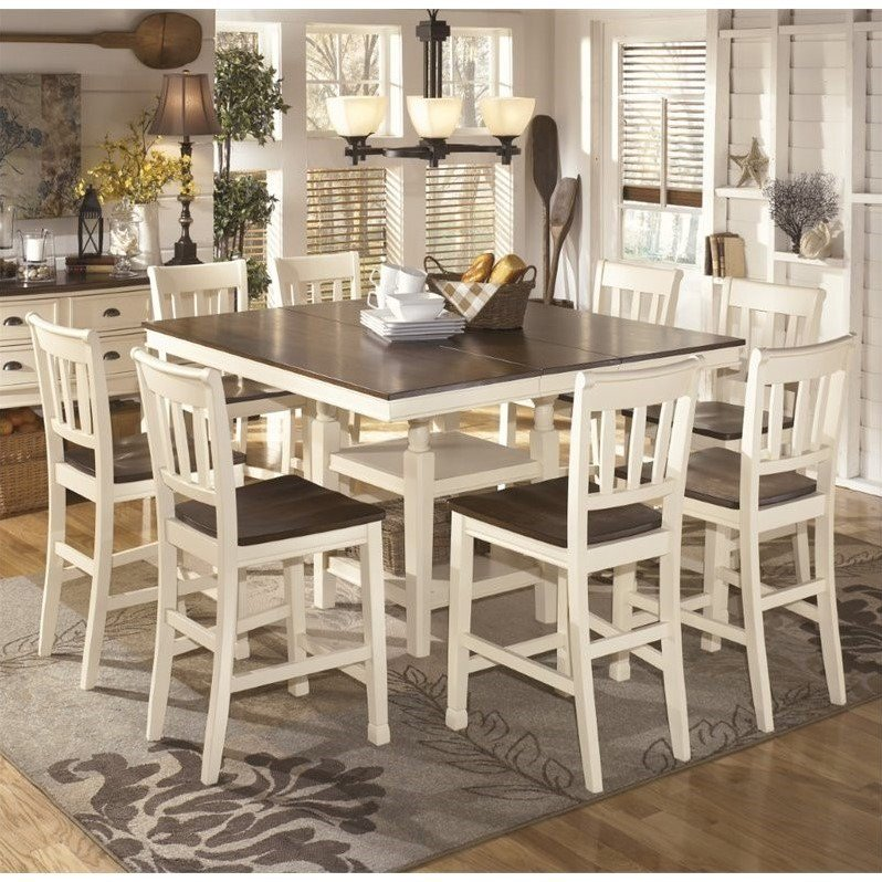 9 piece counter height dining room sets whitesburg 9 counter height dining set in 9159