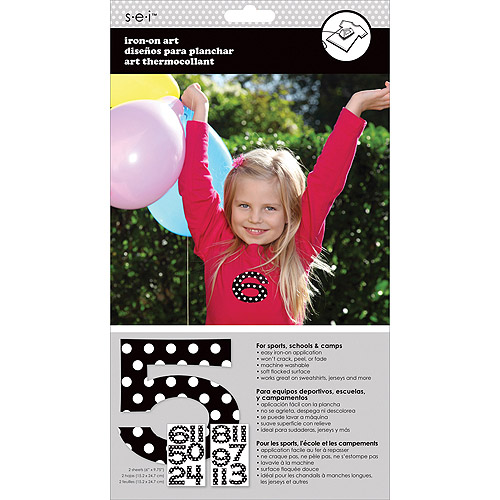 "Number Transfers 1-1/2"" 2 Sheets/Pkg-Black Polka Dot"