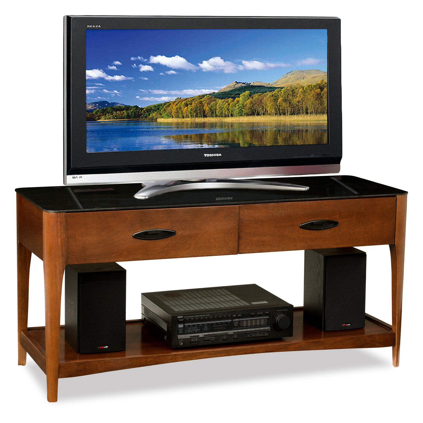 Leick Glass Top 50 in. TV Console