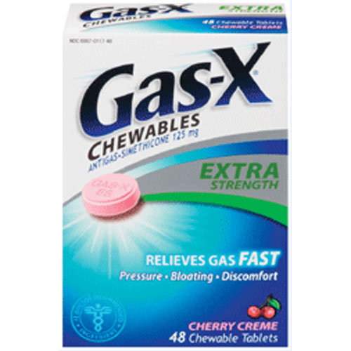 Gas-X Extra Strength Chewable Tablets With Cherry Creme - 48 Ea