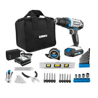 HART 20-Volt Cordless 36-Piece Project Kit, 3/8-inch Drill/Driver and 10-inch Storage Bag, (1) 1.5Ah Lithium-Ion Battery