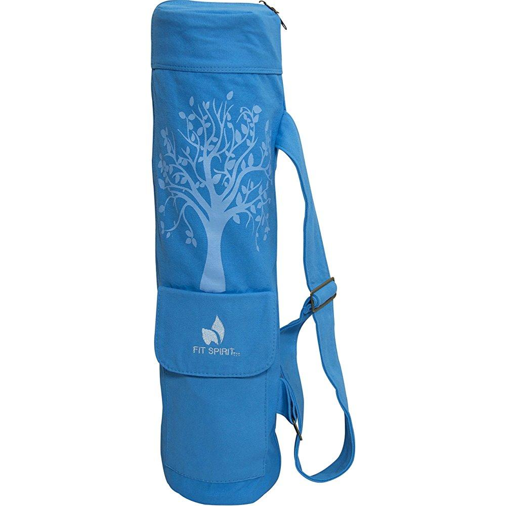 Fit Spirit Tree Of Life Exercise Yoga Mat Bag W/ 2 Cargo