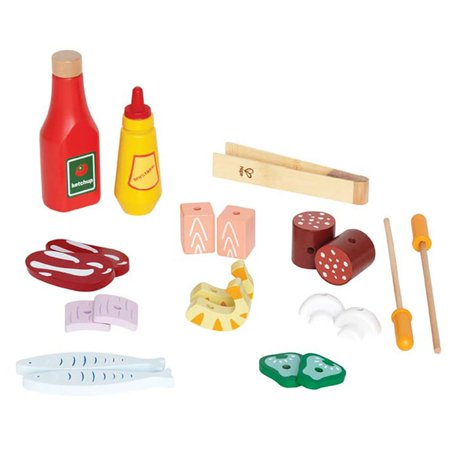 Hape Kids Wooden Gourmet BBQ Grill with Pretend Play Set with Food Accessories - image 1 de 7