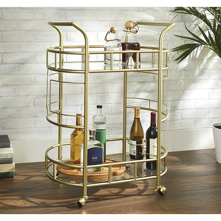 Better Homes & Gardens Fitzgerald 2-Tier Bar Cart, Gold - Better Homes And Gardens Halloween Drinks