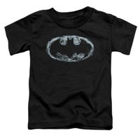 Batman-Smoke Signal - Short Sleeve Toddler Tee - Black, Medium 3T