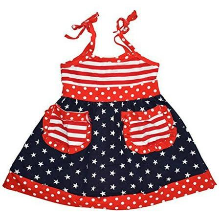17e86b1137ec Unique Baby - Unique Baby Girls 4th of July Patriotic Dress (7