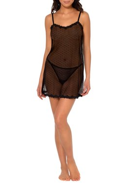 Women's Smart & Sexy Sheer Lace & Mesh Chemise Lingerie