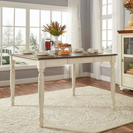Weston Home Two Tone Counter Height Table Antique White Warm - Counter height table for two