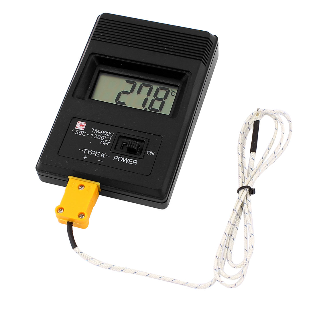 Unique Bargains LCD K-Type Digital Thermometer Test TM-902C w Thermocouple Wire