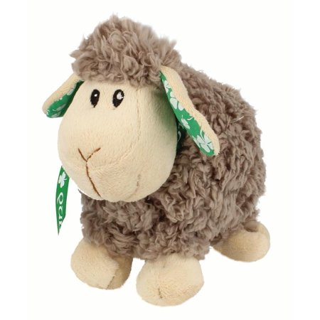 Sheep Clover Ribbon - Grey Small Soft Toy