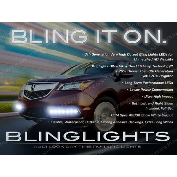 Acura MDX LED DRL Light Strips For Headlamps Headlights