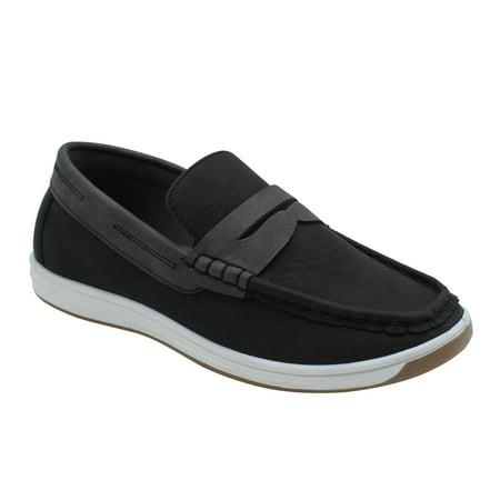 Matte-12 Boys Loafers Shoes Dress Casual Loafers for Boys Slip-on Casual Comfortable Black 13 (Pediped Boys Dress Shoes)