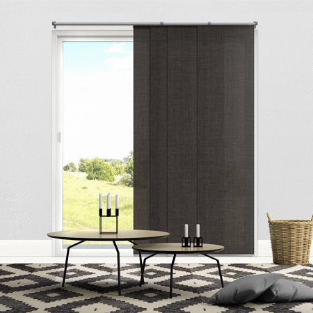 Fabric Vertical Blinds - Chicology Adjustable Sliding Panels, Cut to Length Vertical Blinds, Nautical Grey (Privacy & Light Filtering) - Up to 80