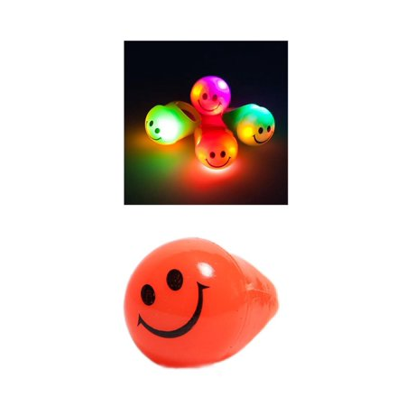 Flashing Smiley Jelly Ring - Jelly Rings