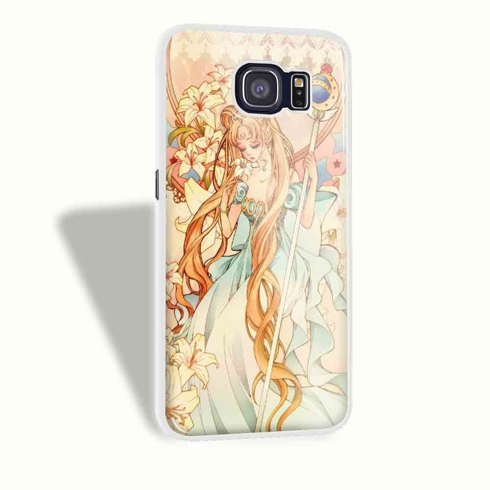 Ganma Sailor Moon Crystal Princess Case For iPhone and Case For Samsung Galaxy (Case For Samsung Galaxy S6 White)