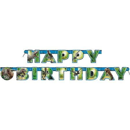 6' Jurassic World Birthday Banner