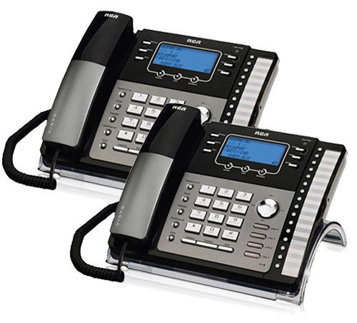 RCA ViSYS 25425RE1 (2-Pack) 4-Line EXP Speaker Phone w  Digital Answering System by GE/RCA