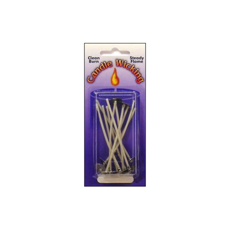 15 Mm Wick Tab (Pepperell Candle Wick Tab Prewaxed Wire Sm 3