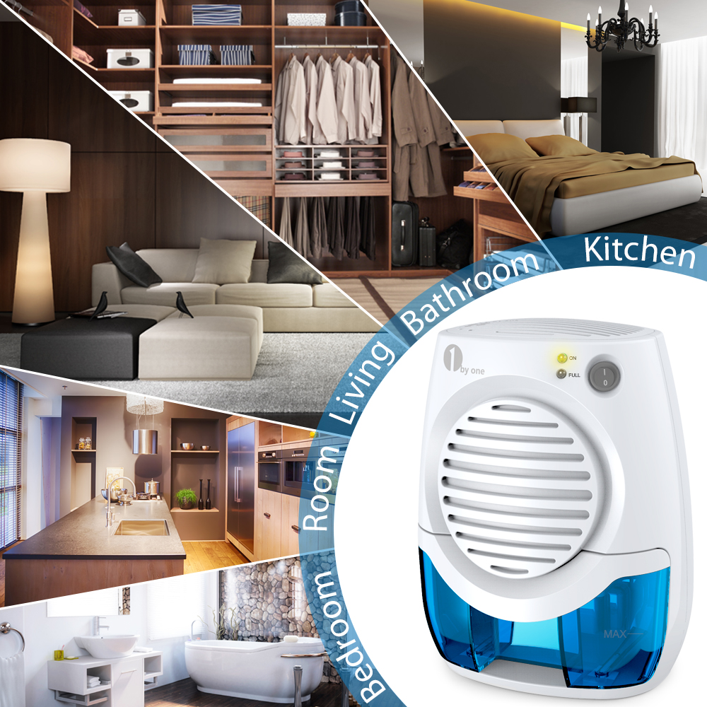 1byone Dehumidifier Mini Safe Electric Quiet Small Dehumidifiers With  Auto Off Function Lightweight And Portable