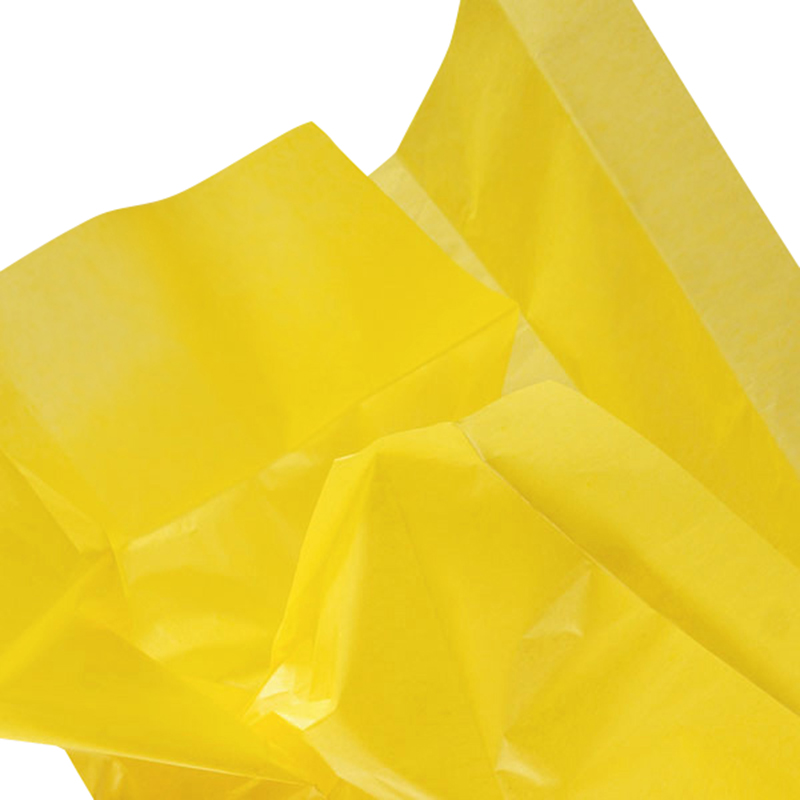24ea - 20 X 30 Yellow Quire Fold Tissue Paper by Paper Mart