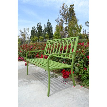 Innova Hearth And Home Lakeside Steel Garden Bench