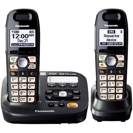Panasonic Kx Tg6592t Dect 6 0 Plus Expandable Digital Answering System With 2 Handsets