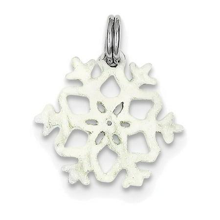 Enamel Snowflake Charm - Finejewelers Sterling Silver Enameled Snowflake Charm