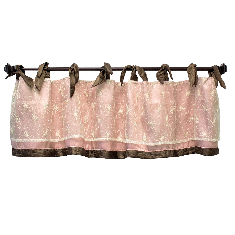 Cocalo Nursery Window Valance - Pink and Cream - Daniella Crib Bedding Collection Accessory