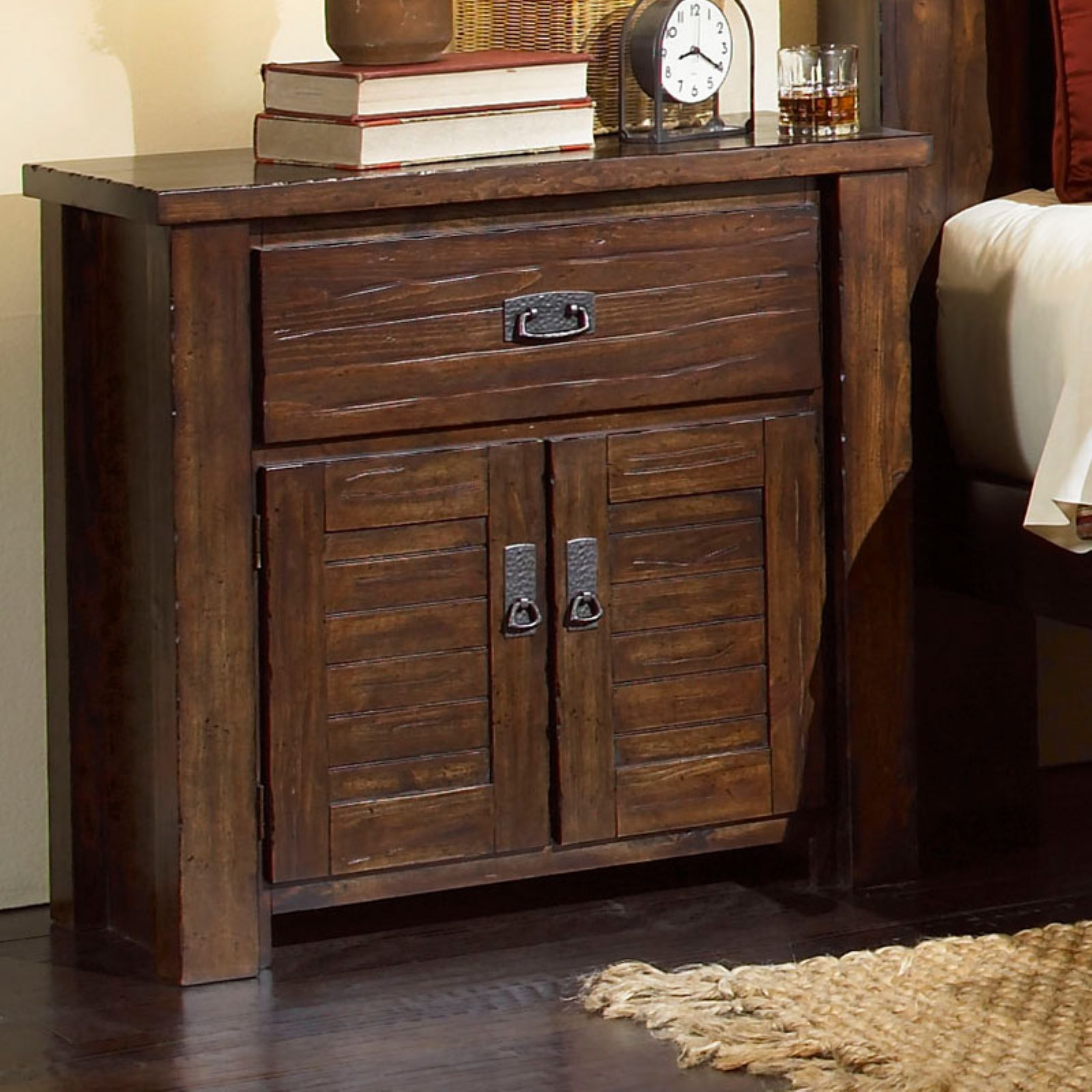 Progressive Furniture Trestlewood 1 Drawer Nightstand - Mesquite Pine