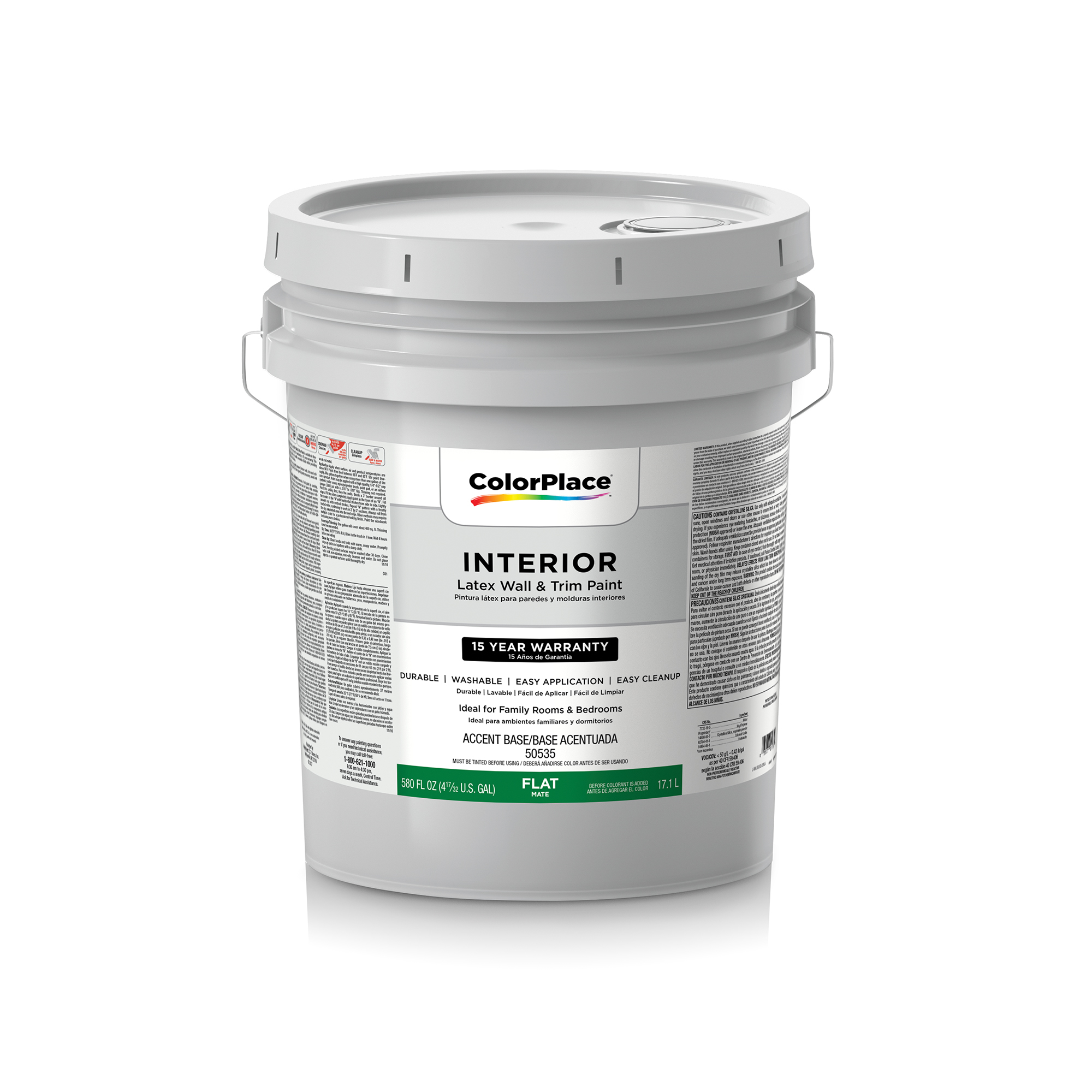 ColorPlace Interior Flat Accent Base Paint, 5 Gal