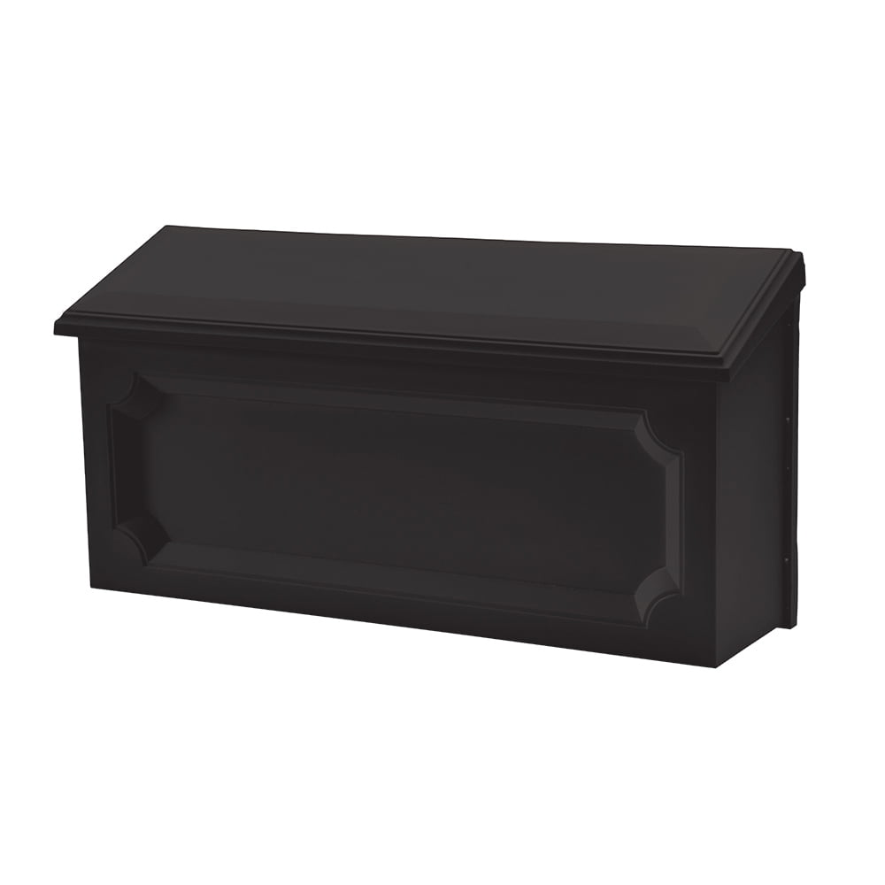 Solar Group Inc WMH00B04 Black Windsor Horizontal Wall Mount Mailbox by Wood Textures Inc