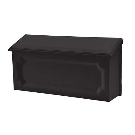 Solar Group Inc WMH00B04 Black Windsor Horizontal Wall Mount Mailbox