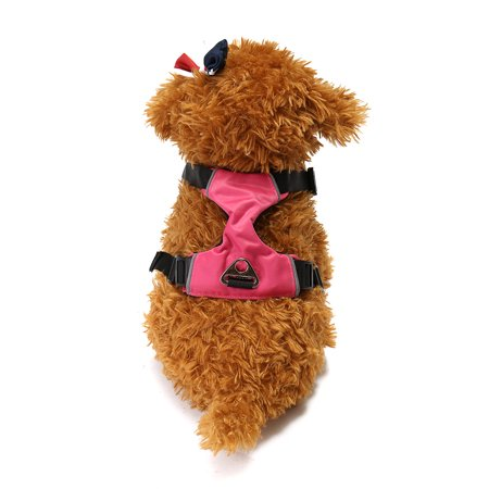 Mesh Nylon Padded Reflective Safety Pet service dog vest Dog Puppy Cat Vest Harness Collar Chest Strap - image 6 of 8