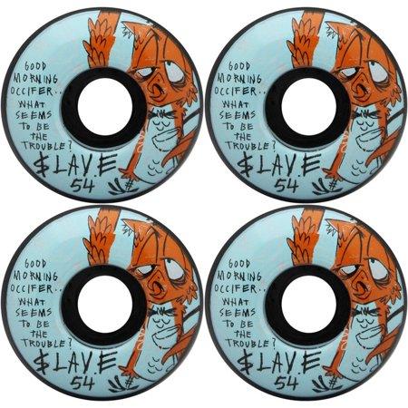 SLAVE Skateboard Wheels NITE OWL BLACK 54MM 99A (Slave Board)
