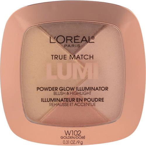 L'Oreal Paris True Match Lumi Powder Glow Illuminator, C302 Ice, 0.31 oz