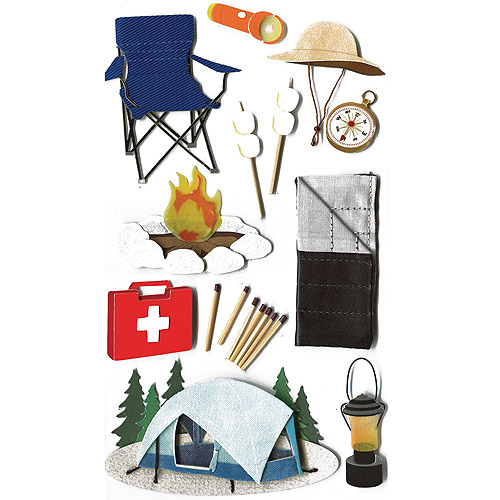 Jolee's Boutique Dimensional Stickers, Camp
