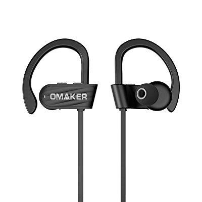 504084bd4ca ... sport bluetooth headphones, omaker e10 wireless workout in ear earbuds  with mic and 6 hours