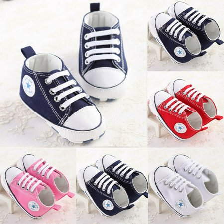 SUNSION Infant Toddler Baby Boys Girls Soft Sole Crib Shoes Sneaker Newborn 0-18 Months Love White Soft Sole Shoes