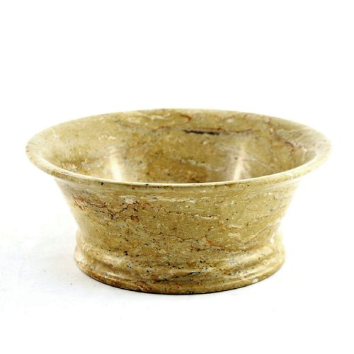 Nature Home Decor Sahara Marble 8'' Decorative Bowl