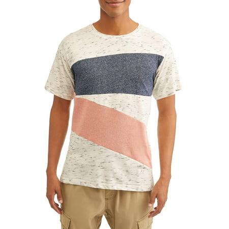 Straight Faded Men's Mixed Media Color Block (Block Print Tee)